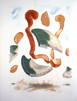 Dropped Bowl with Scattered Slices and Peels, 1990