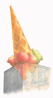 Proposal for a Sculpture in the Form of a Dropped Cone, for Neumarkt Galerie, Cologne, 1998
